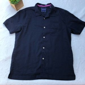 Tommy Bahama Men's Large Navy Button Down